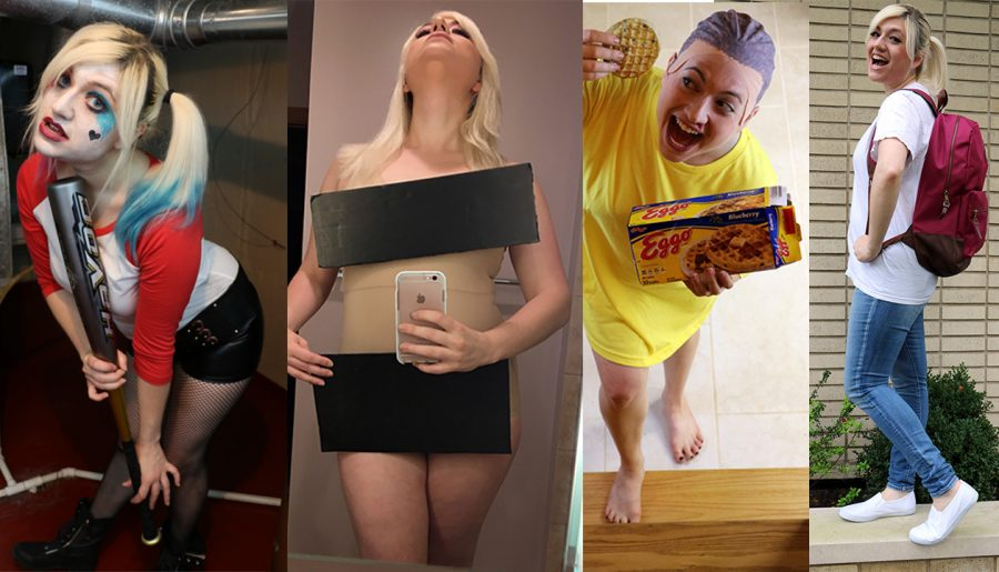 2016 DIY HALLOWEEN COSTUMES TUTORIAL  Harley Quinn, Kim Kardashian, Eleven from Stranger Things, & Damn Daniel